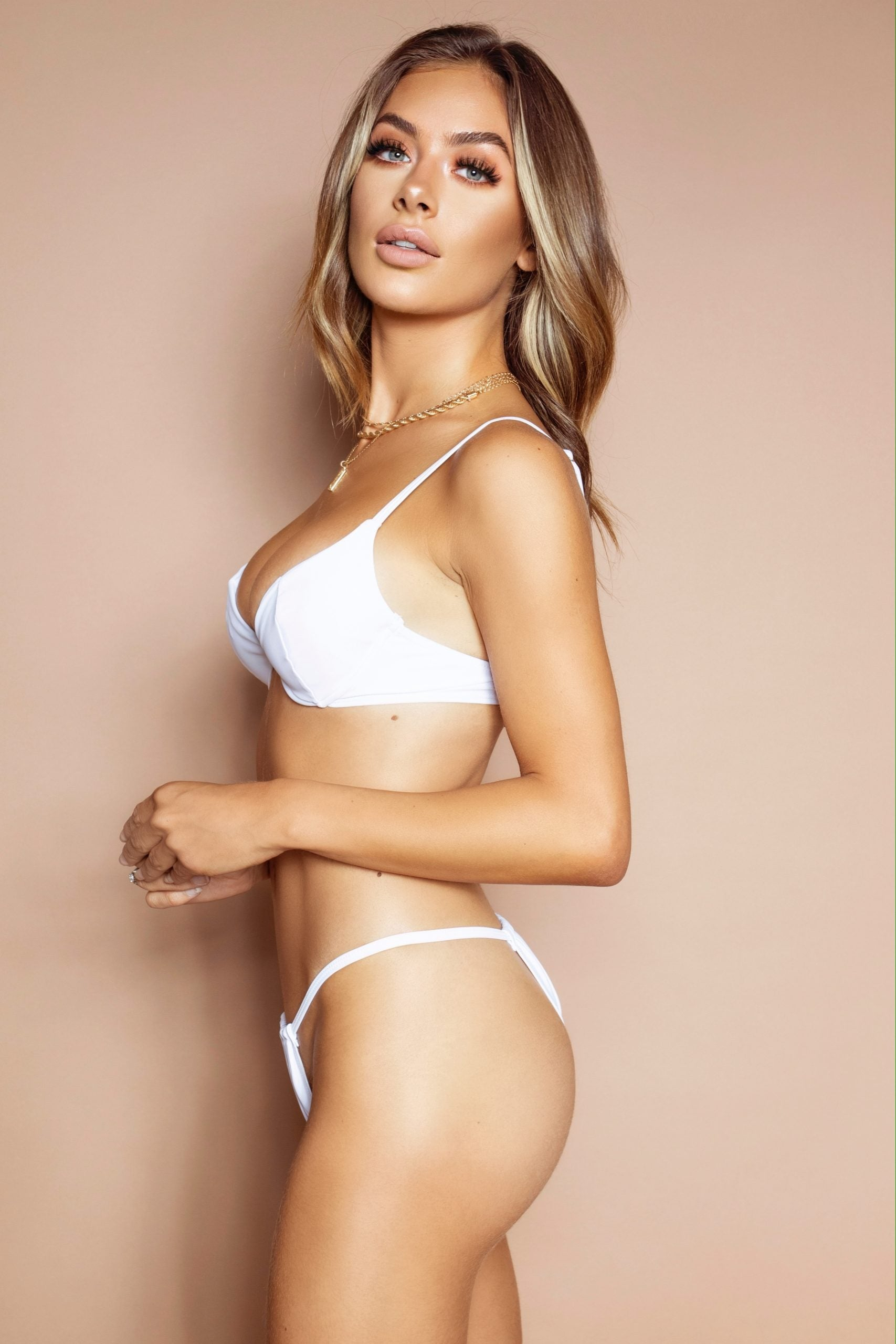The Elle White Bra Bikini