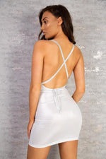 Load image into Gallery viewer, The Alva Multiway Sparkle Strap Mini Dress – View for more colours