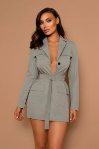 The Alyssa Pale Green Blazer