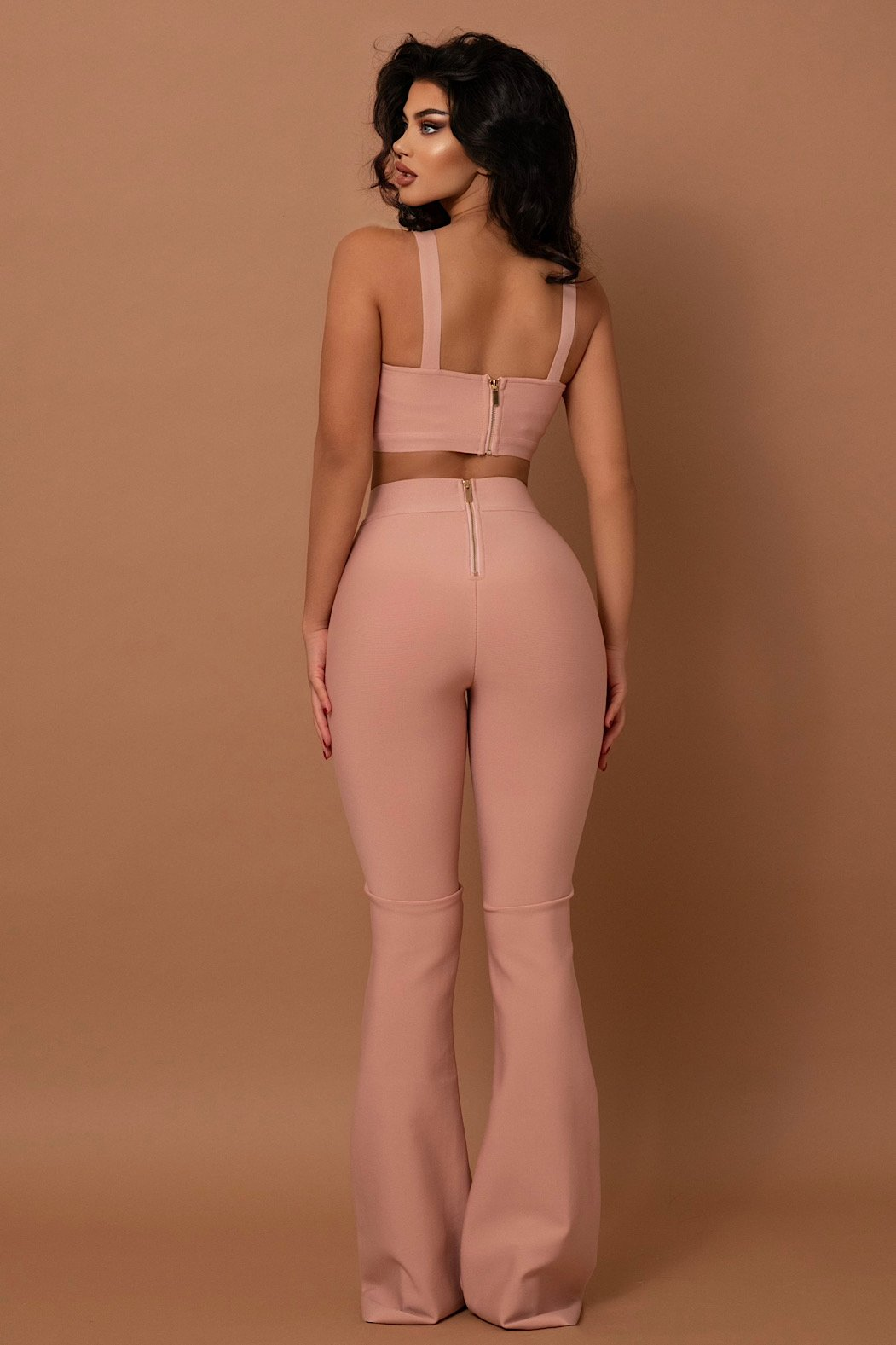 The Ava Bandage Pants Two Piece Pink