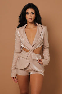 The Alara Blazer / Shorts Two Piece Set