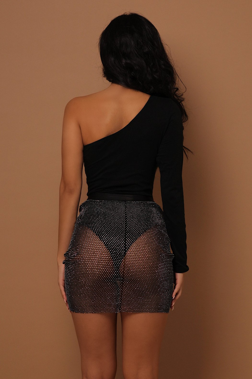 The Sala Mesh Diamante Skirt - View for more colours