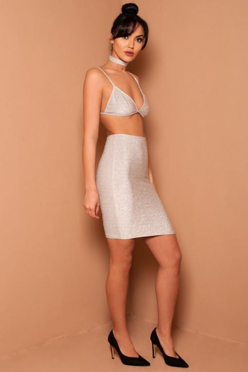 Silver Sparkle Two Piece