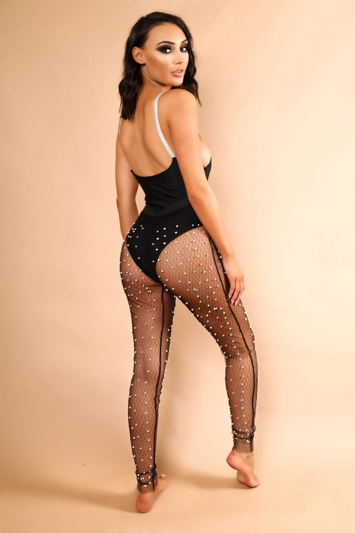 The Mesh Beaded Pants - View for more colours