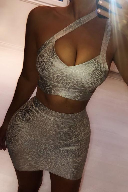 The Metallic Bandage Two Piece – View for more colours