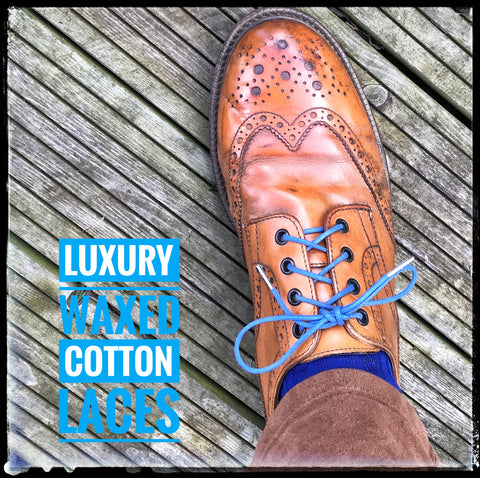 2. Luxury British Made Waxed Cotton Laces