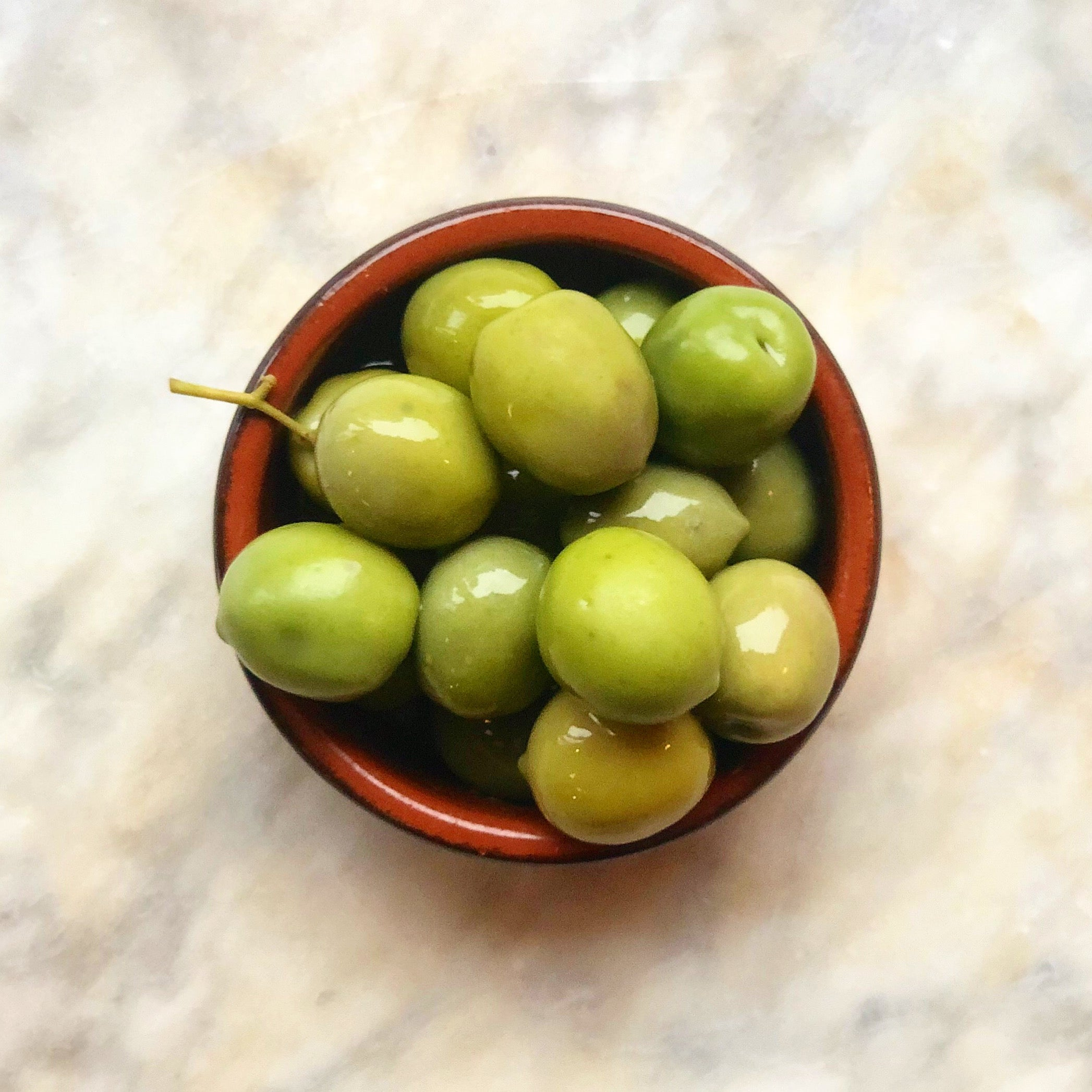 Green nocellara olives