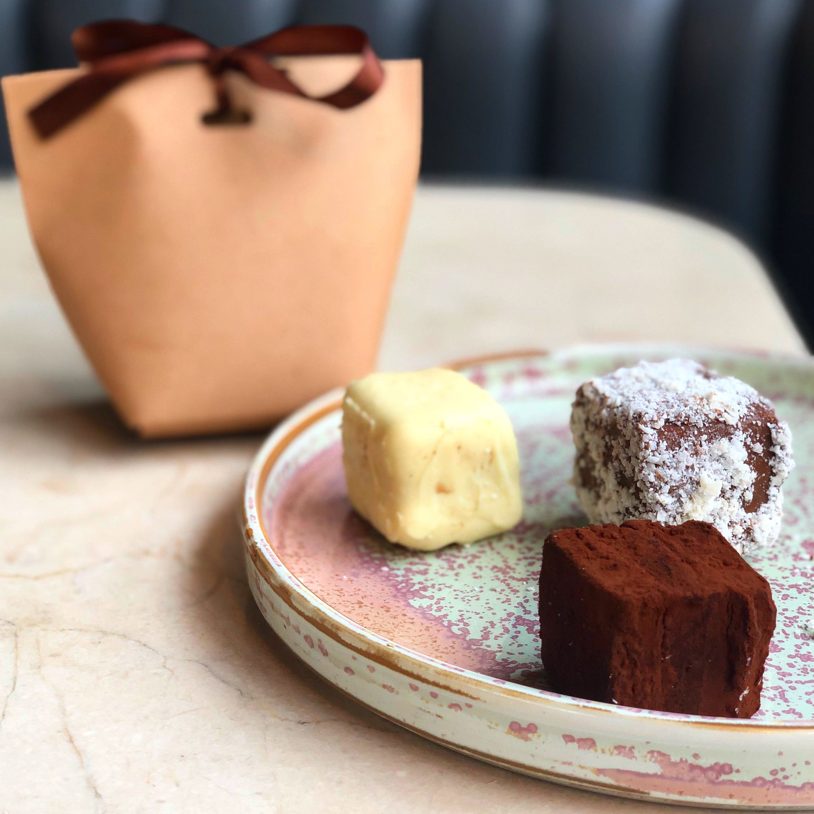 Trio of chocolate truffles - available 9th-15th February