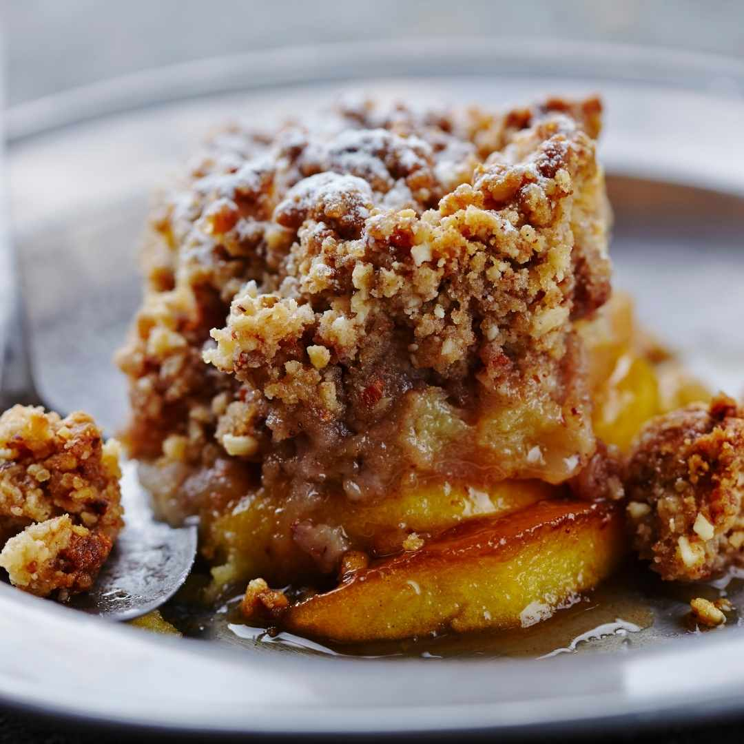 Calvados apple crumble - available until 24th Jan