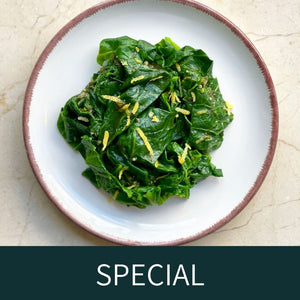 Spring greens with wild garlic vinaigrette (VE)-Available until 8th of may