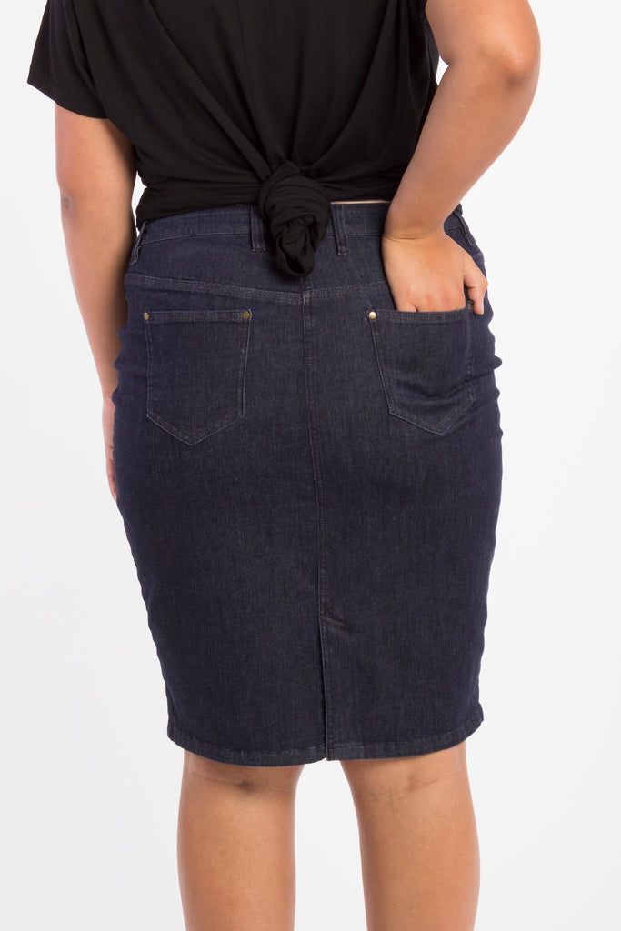 Crazy Sexy Cool Denim Skirt - Indigo - Harlow