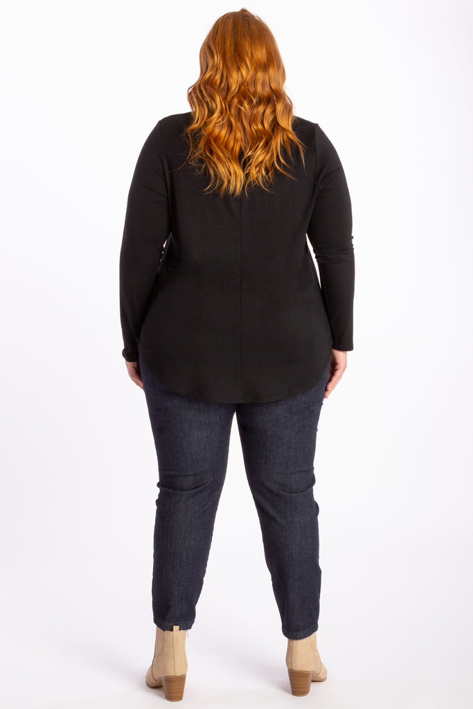 The One I Love Long Sleeve Tee - Black - Harlow