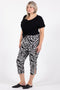 Rapture Crop Pant - Zebra Print