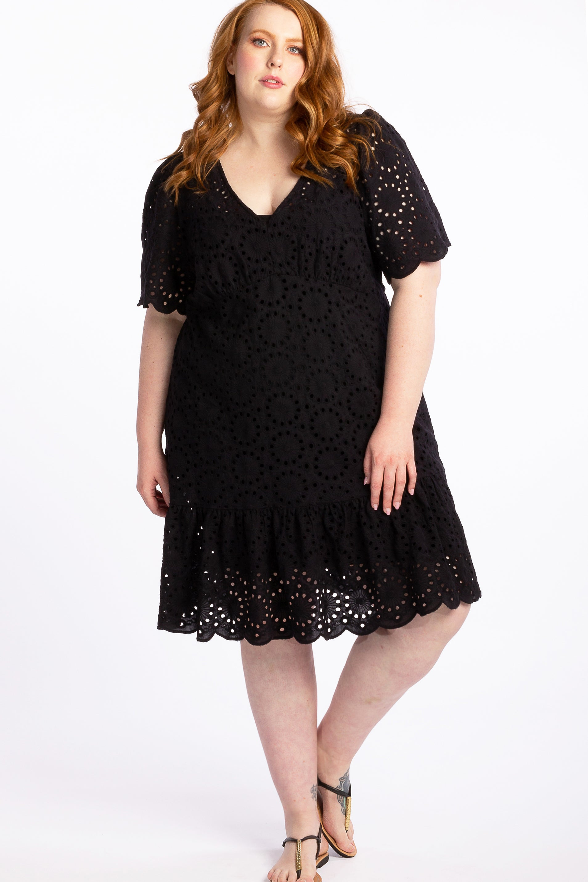 Spirit In Flight Broidery Dress - Black - Harlow