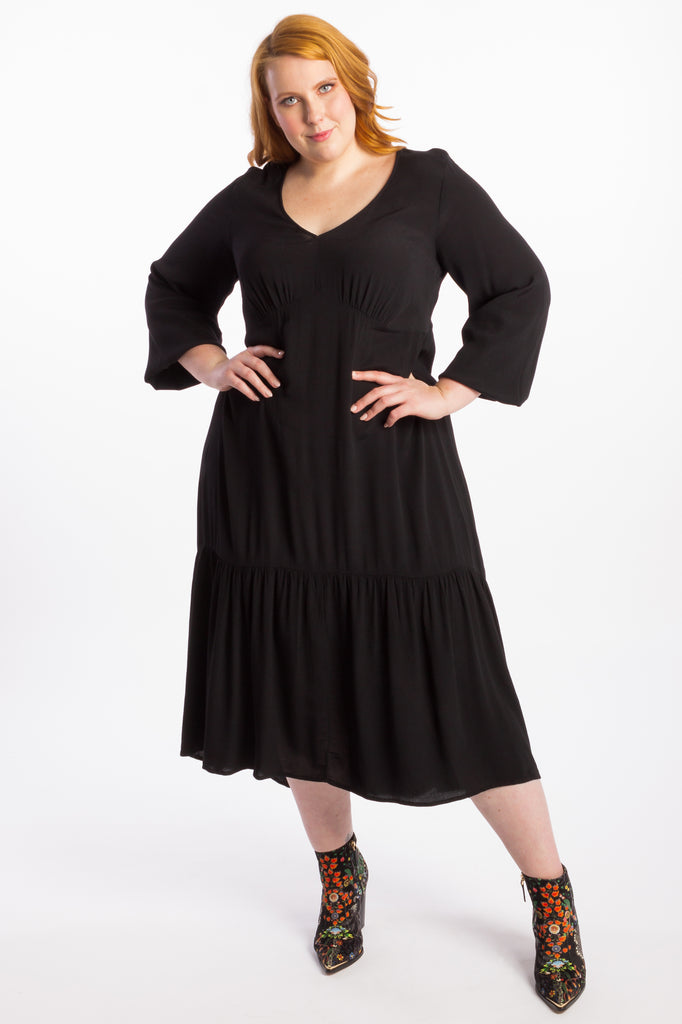 Devoted To You Maxi Dress - Black - Harlow