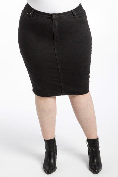 Crazy Sexy Cool Denim Skirt - Black - Harlow