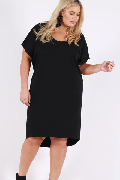 Diva Slouch Dress - Black - Harlow