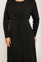 Do You Believe In Magic Knot Front Dress - Black