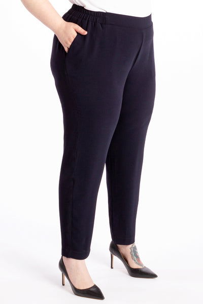 Don't Ask Me Why Straight Leg Pant - Navy - Harlow