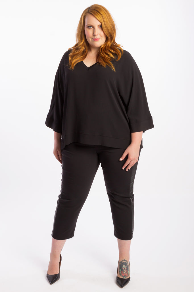 Don't Stop Believing Boxy Top - Black - Harlow
