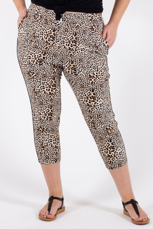 Addicted To Love Crop Pant - Animal Print