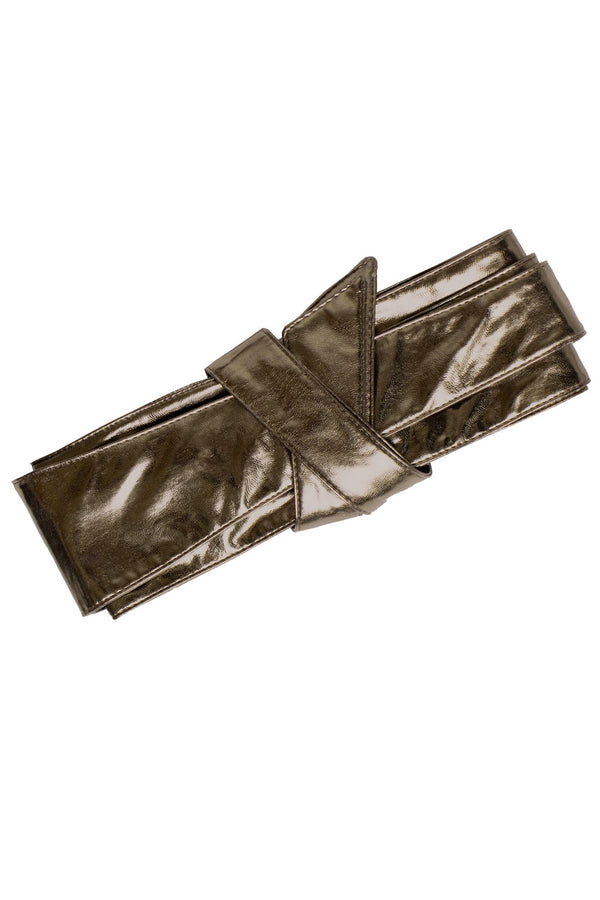 Wrap It Up Obi Belt - Bronze Vegan Leather