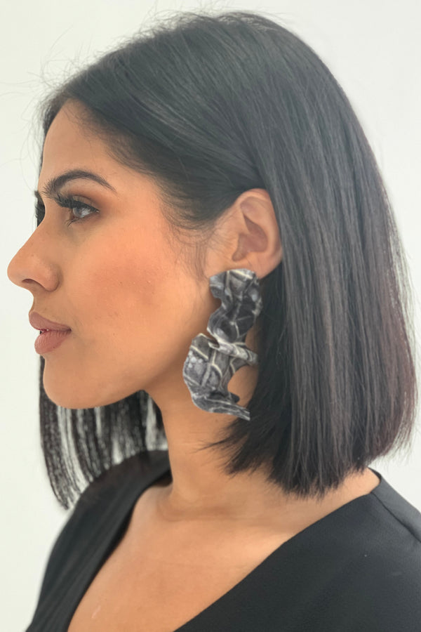 No Rules Earrings - Python