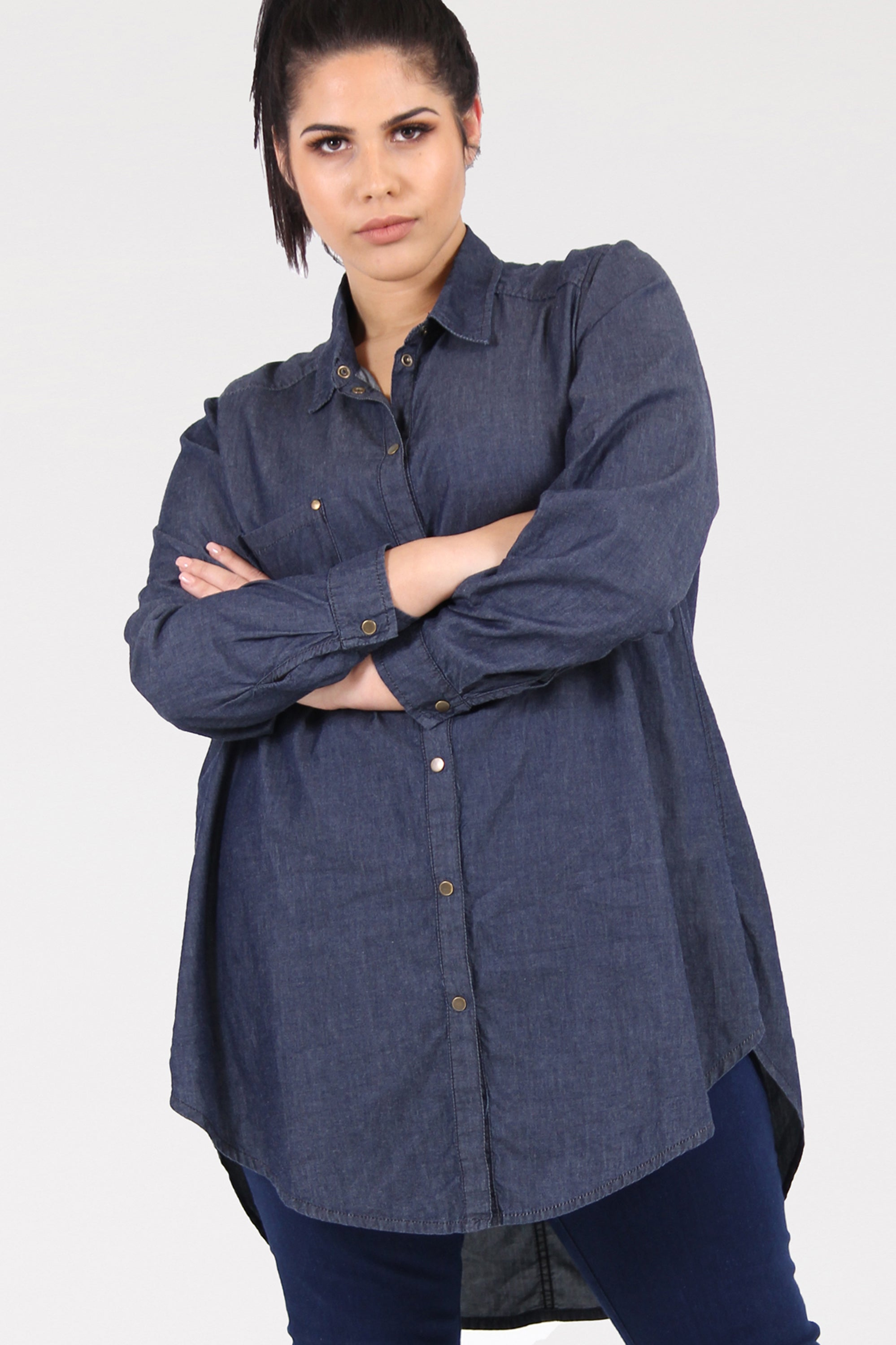 Jean Genie Denim Shirt - Indigo