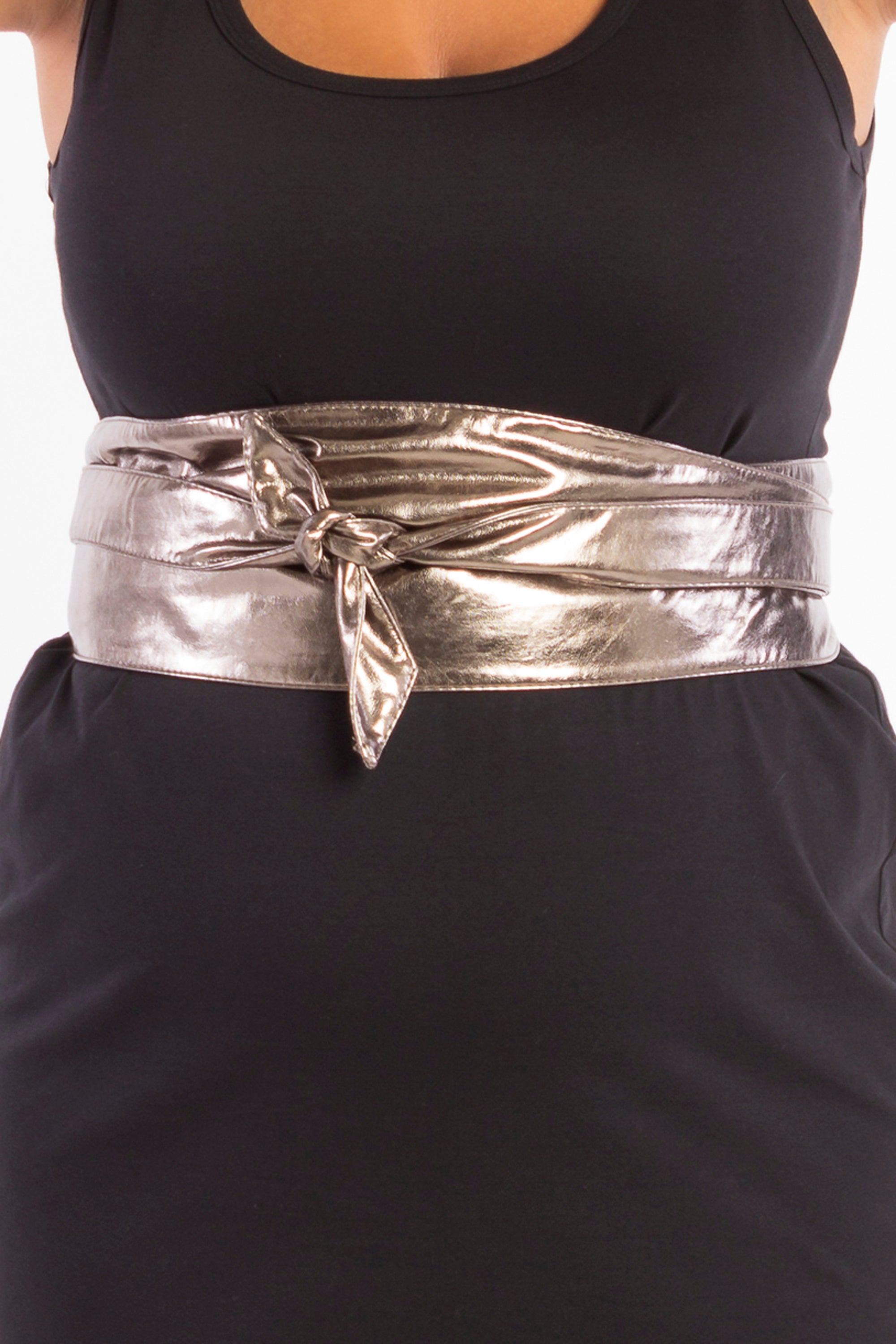 Wrap It Up Obi Belt - Bronze Vegan Leather - Harlow
