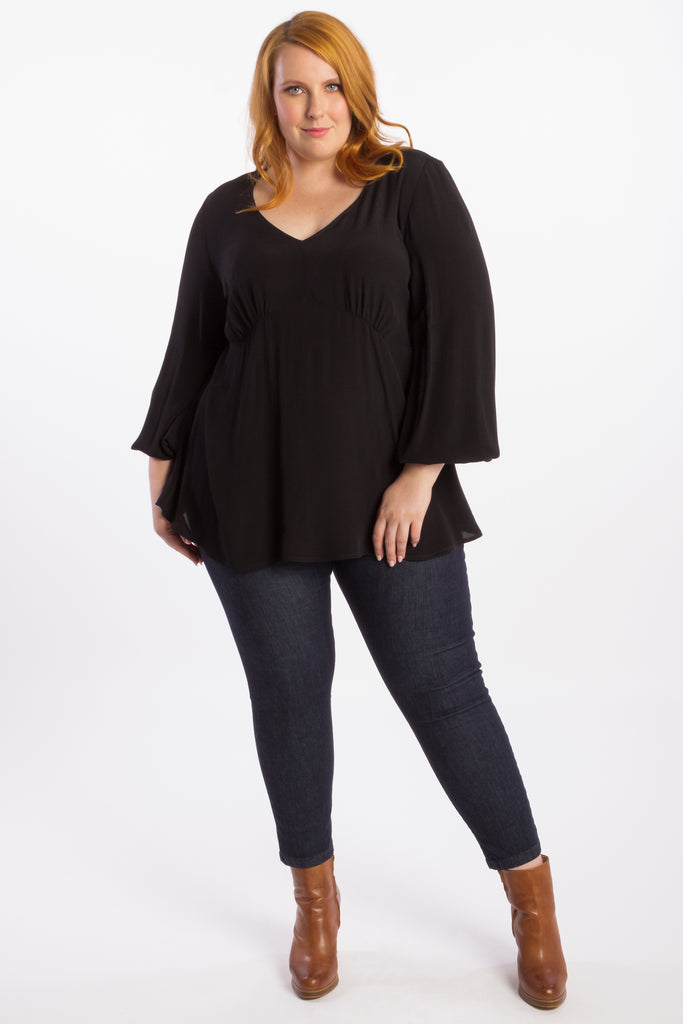 Devoted To You Blouse - Black - Harlow