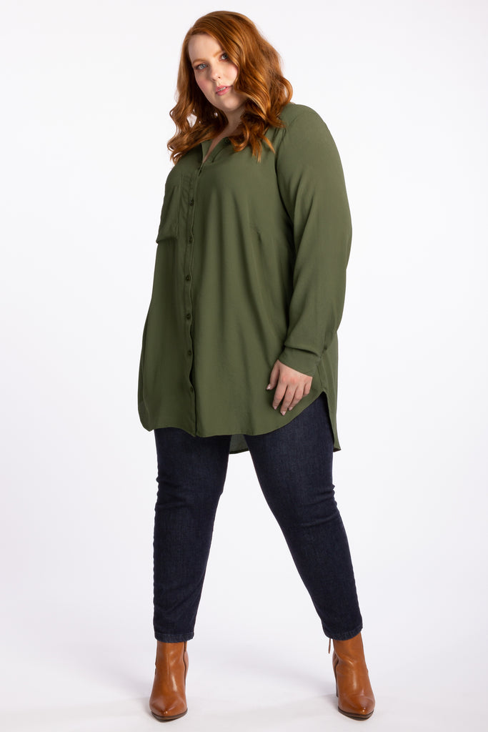 Take My Breath Away Shirt - Khaki - Harlow