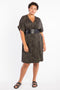 Modern Love Wrap Dress - Animal