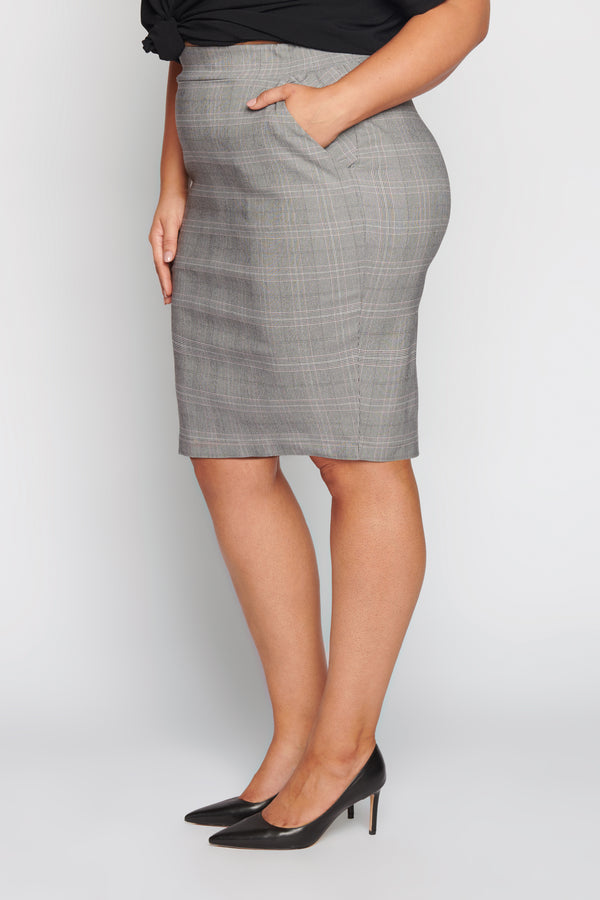 You Aint Seen Nothin Yet Pencil Skirt - Check