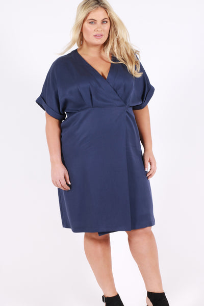 Modern Love Wrap Dress - Denim Blue - Harlow