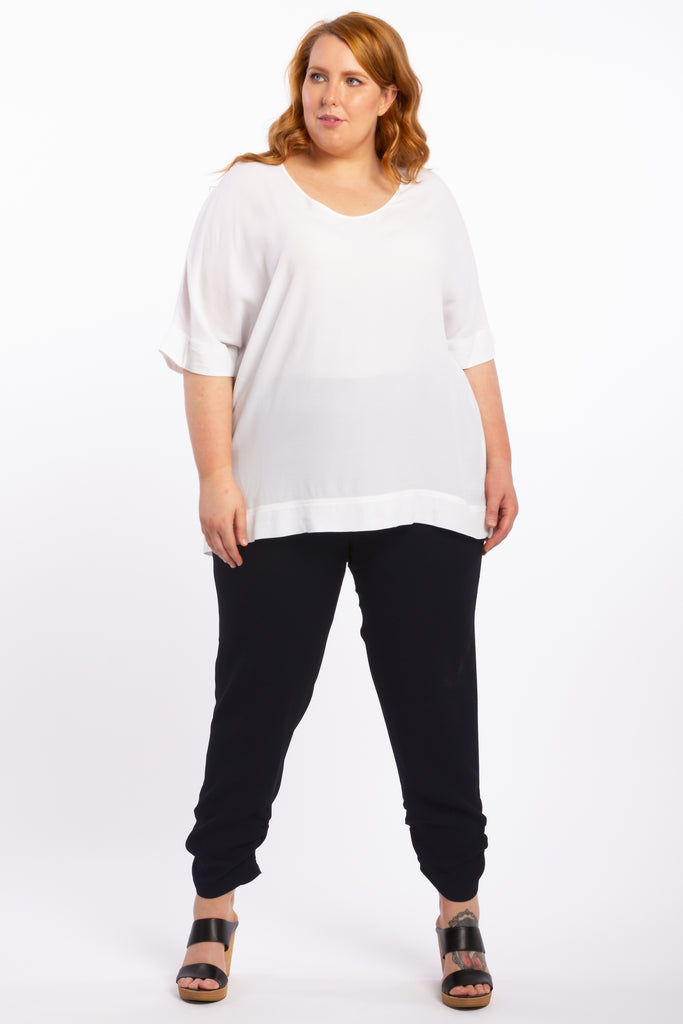 Time After Time Woven Top - White - Harlow