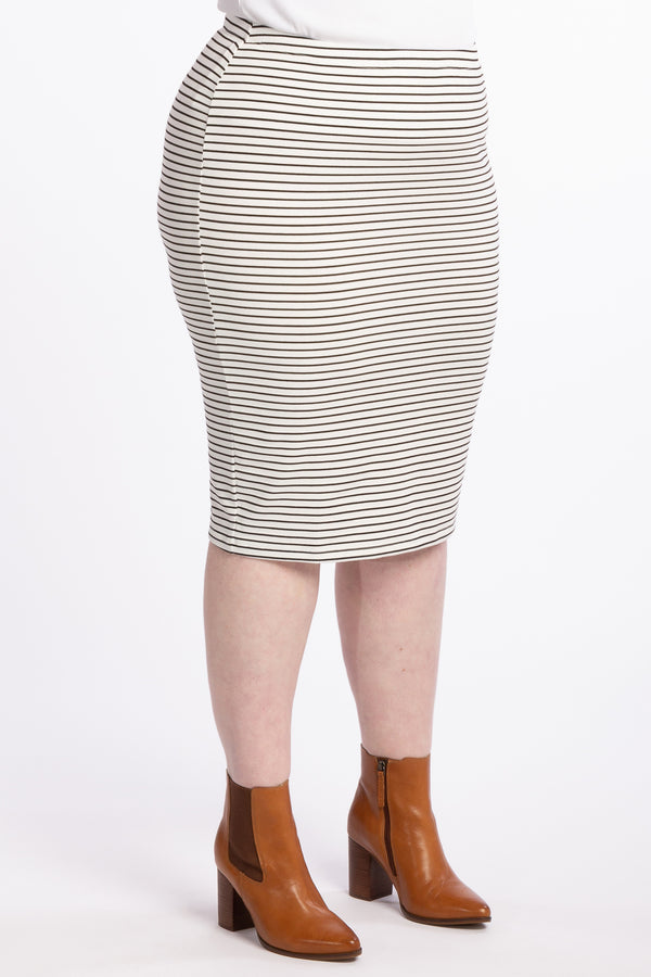 The Essential Skirt - White Stripe