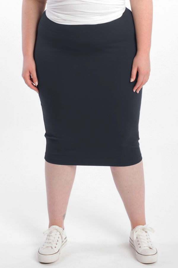 Dressed For Success Pencil Skirt - Navy