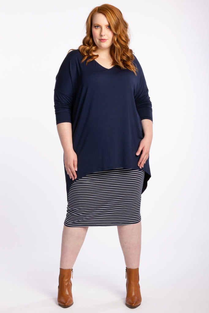 Simply The Best Oversized Top - Navy - Harlow