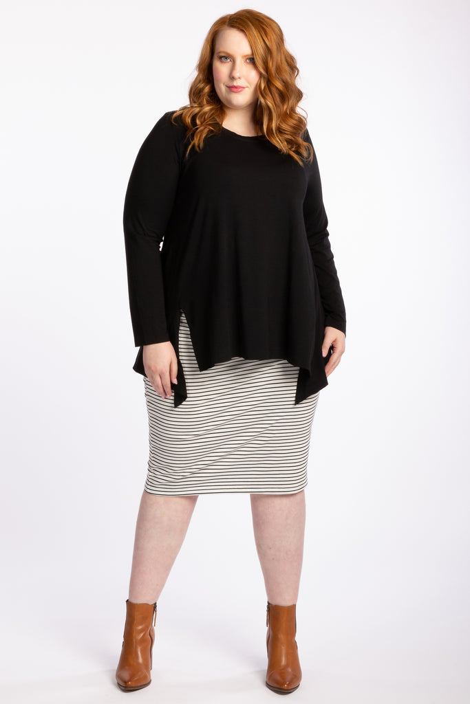 The Essential Skirt - White Stripe - Harlow