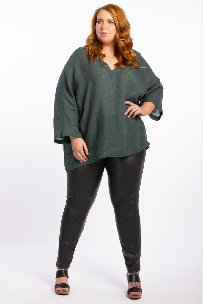 That's Alright Linen Top - Teal - Harlow
