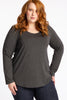 The One I Love Long Sleeve Tee - Charcoal Marle - Harlow