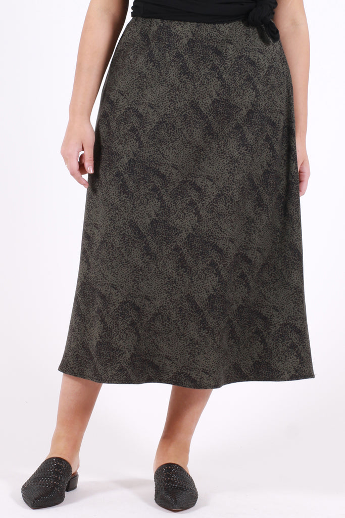 Gypsy Bias Cut Skirt - Animal - Harlow