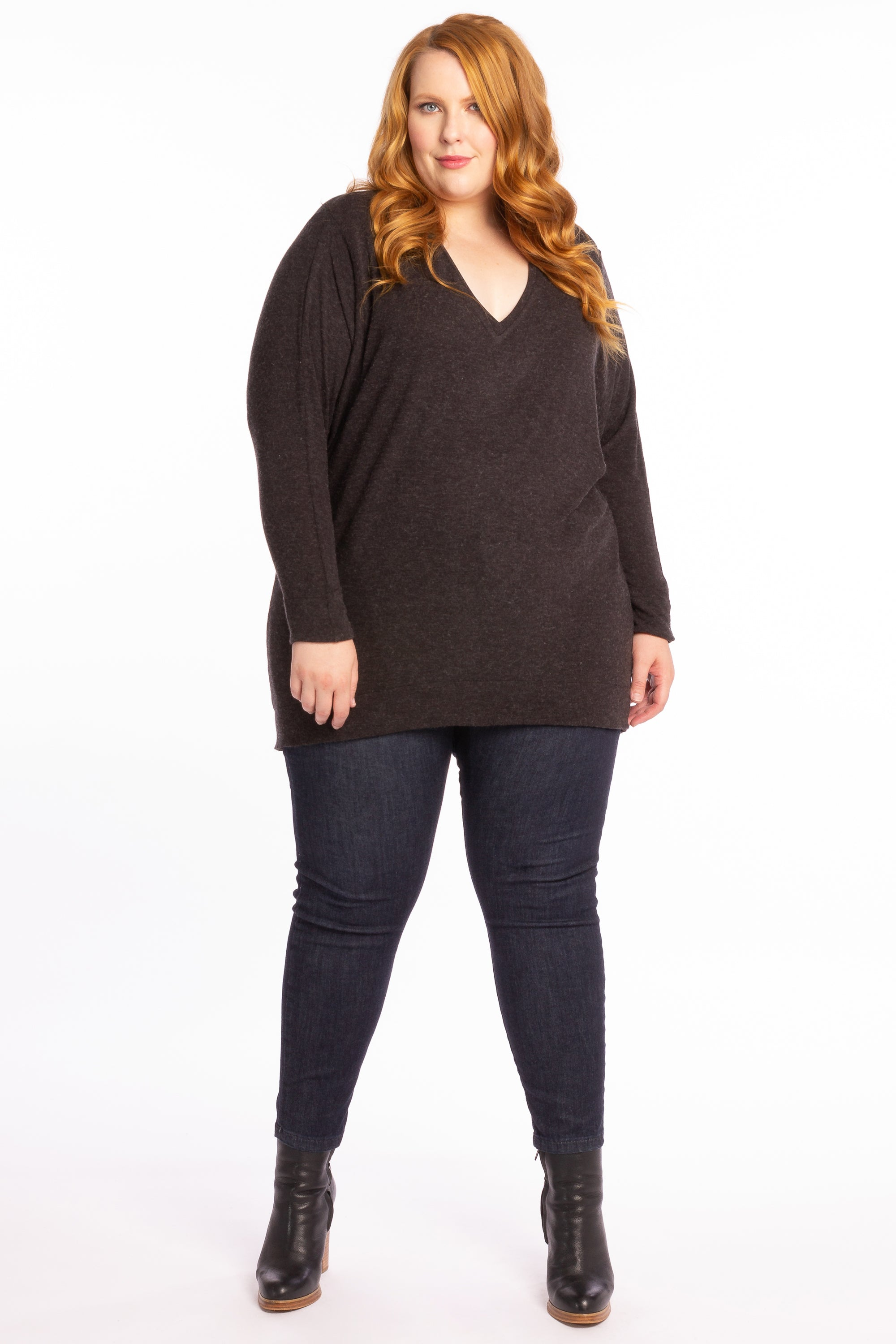 We Can Be Heroes Sweater - Charcoal Marle
