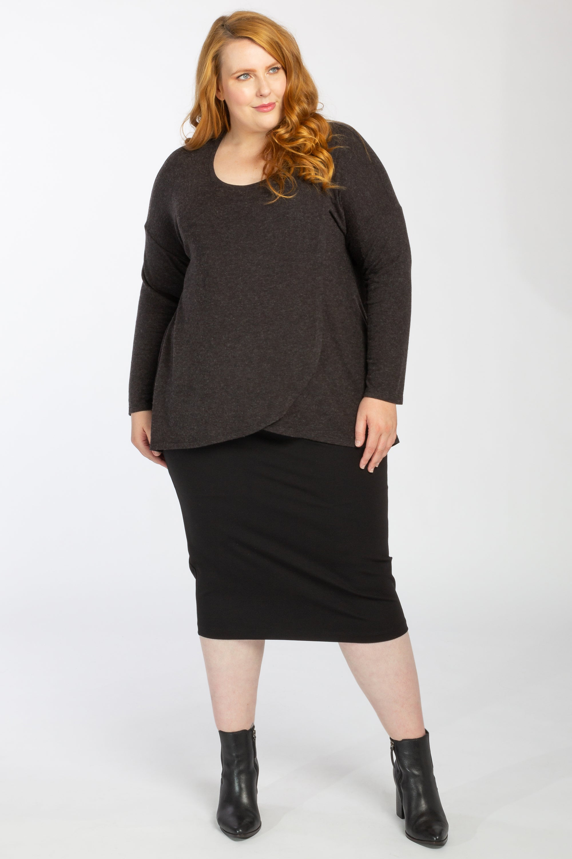 Wrapped Up In Your Love Knit - Charcoal Marle