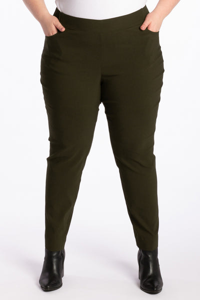 The Essential Slim Leg Pant - Khaki - Harlow