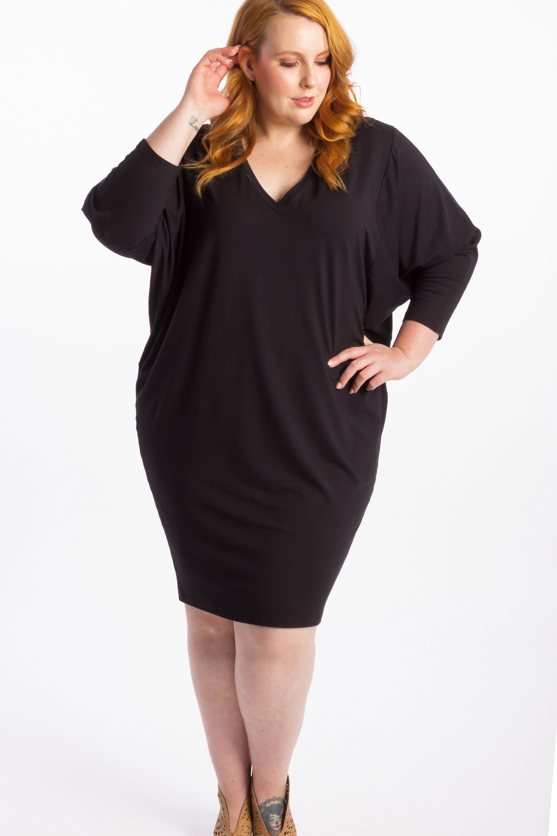 Rebel Yell Batwing Dress - Black
