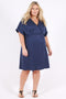 Modern Love Wrap Dress - Denim Blue