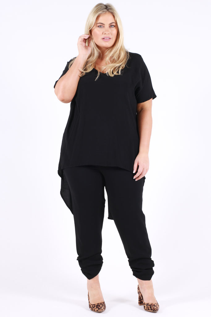 Atomic Oversized Top - Black - Harlow