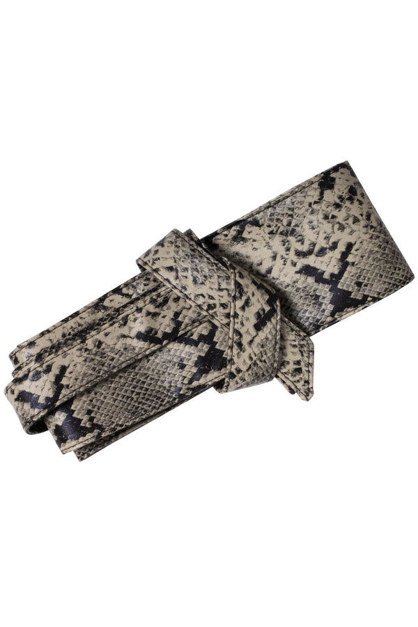 Wrap It Up Obi Belt - Python Vegan Leather
