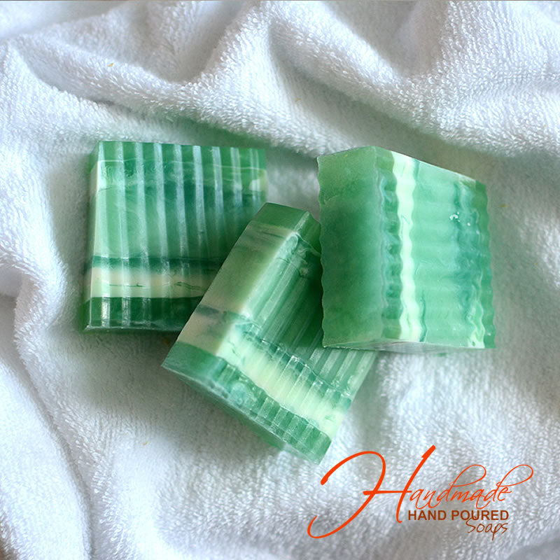 Handmade & Poured Lime Eucalyptus Soap - Sold Individually (Signature Gift Item)